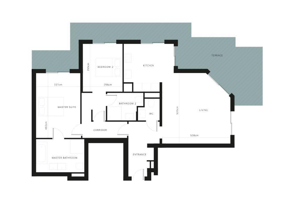 Cap d'Antibes -  Lekker ny 3-roms 92m2 leilighet med stor terrasse i eksepsjonell residens
