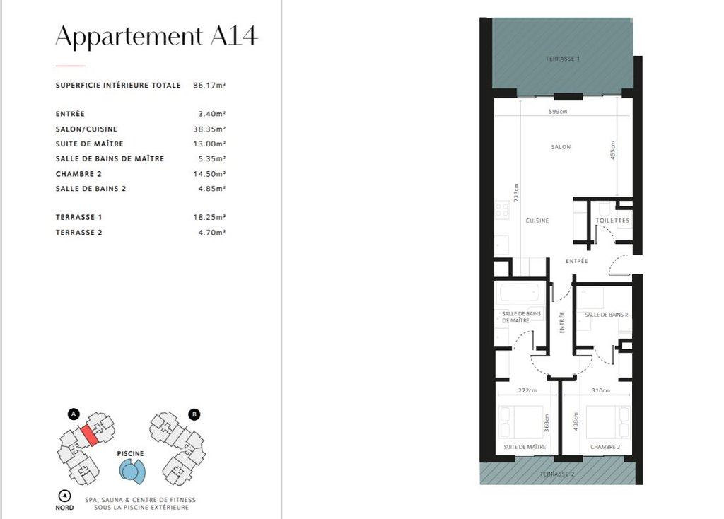 Cap d'Antibes -  Lekker ny 3-roms 86m2 leilighet med stor terrasse i eksepsjonell residens