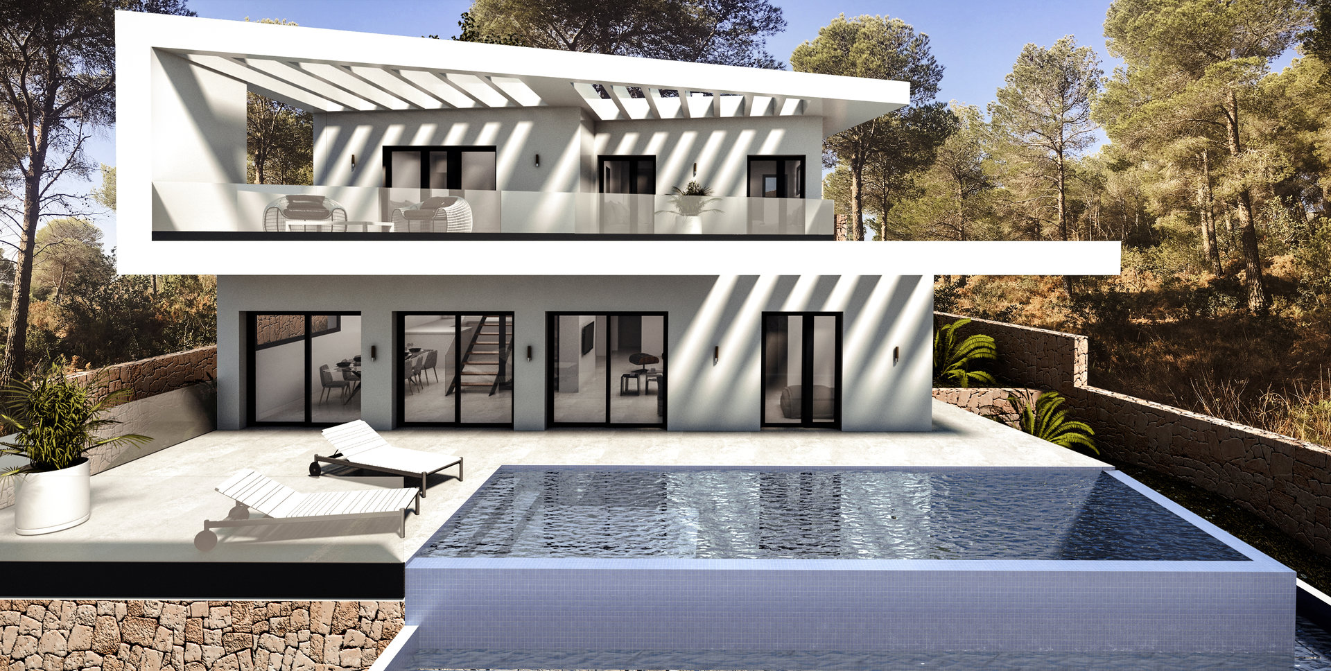 Villa moderne avec vue spectaculaire sur la mer