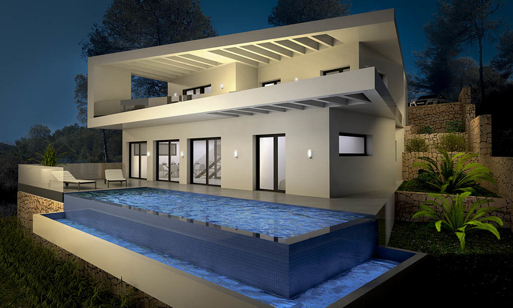 Moderne villa met spectaculair uitzicht op zee