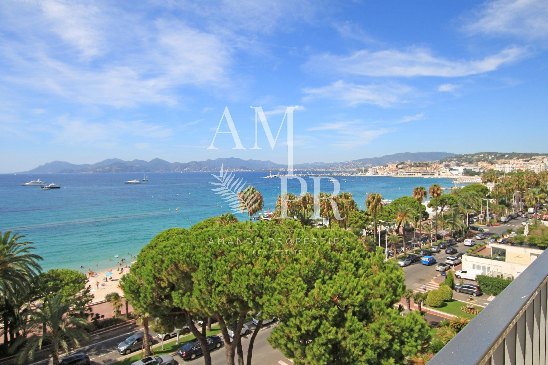 - CANNES CROISETTE - RENOVATED APPARTMENT - PANORAMIC SEAVIEW - 4 PEOPLE
