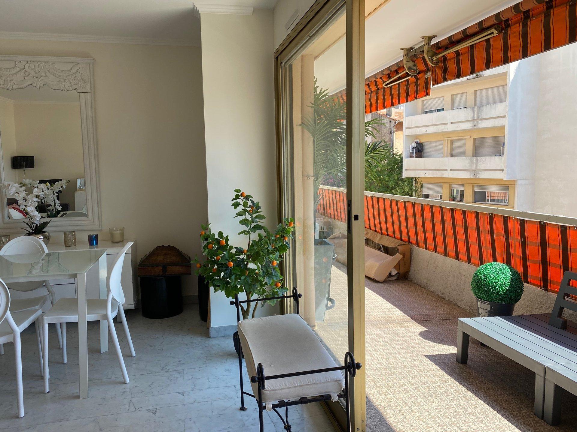 2 piéces terrasse+box vieux cannet