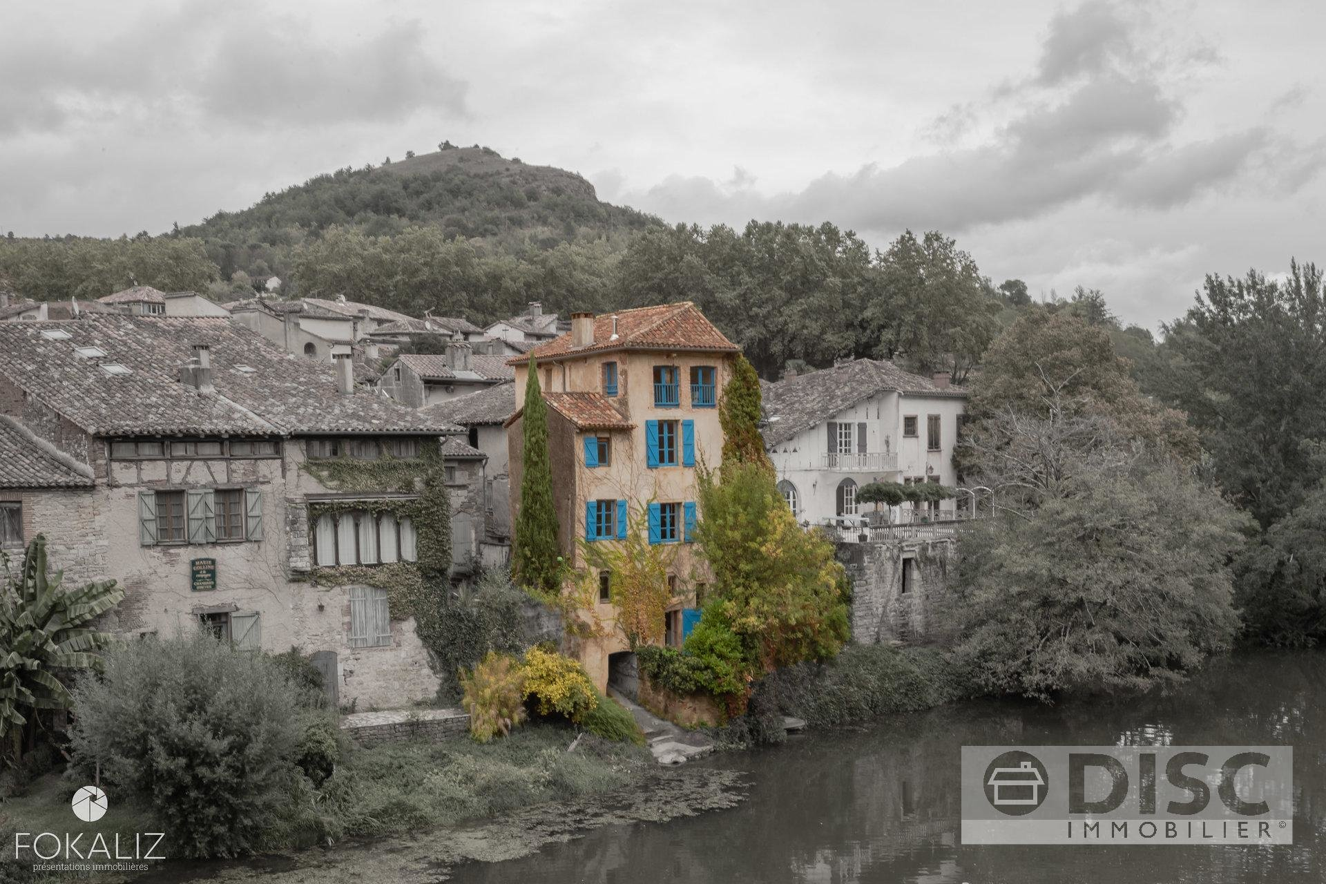 Village house with river access.