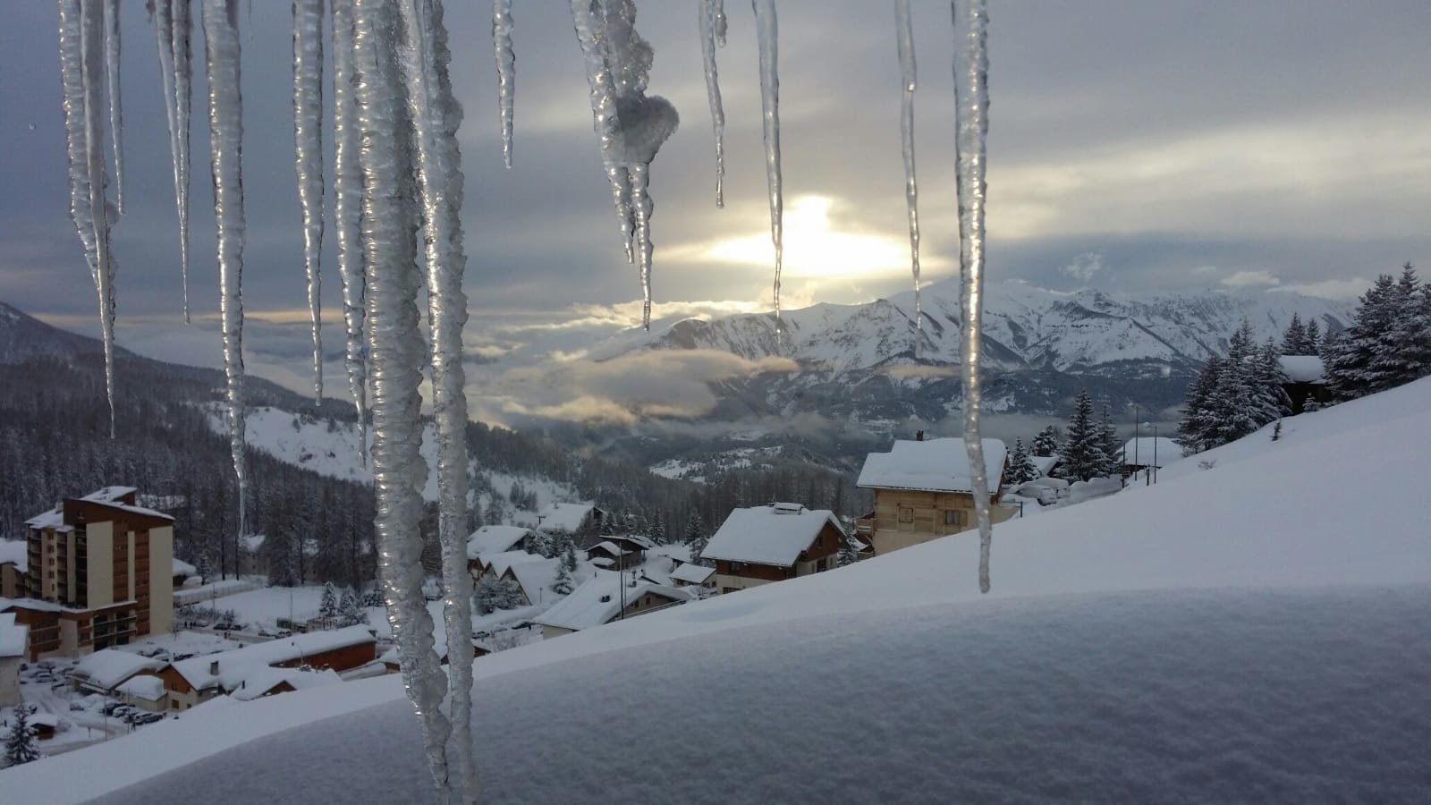Valberg Ski Resort.  Exceptional location with panoramic views of the resort.