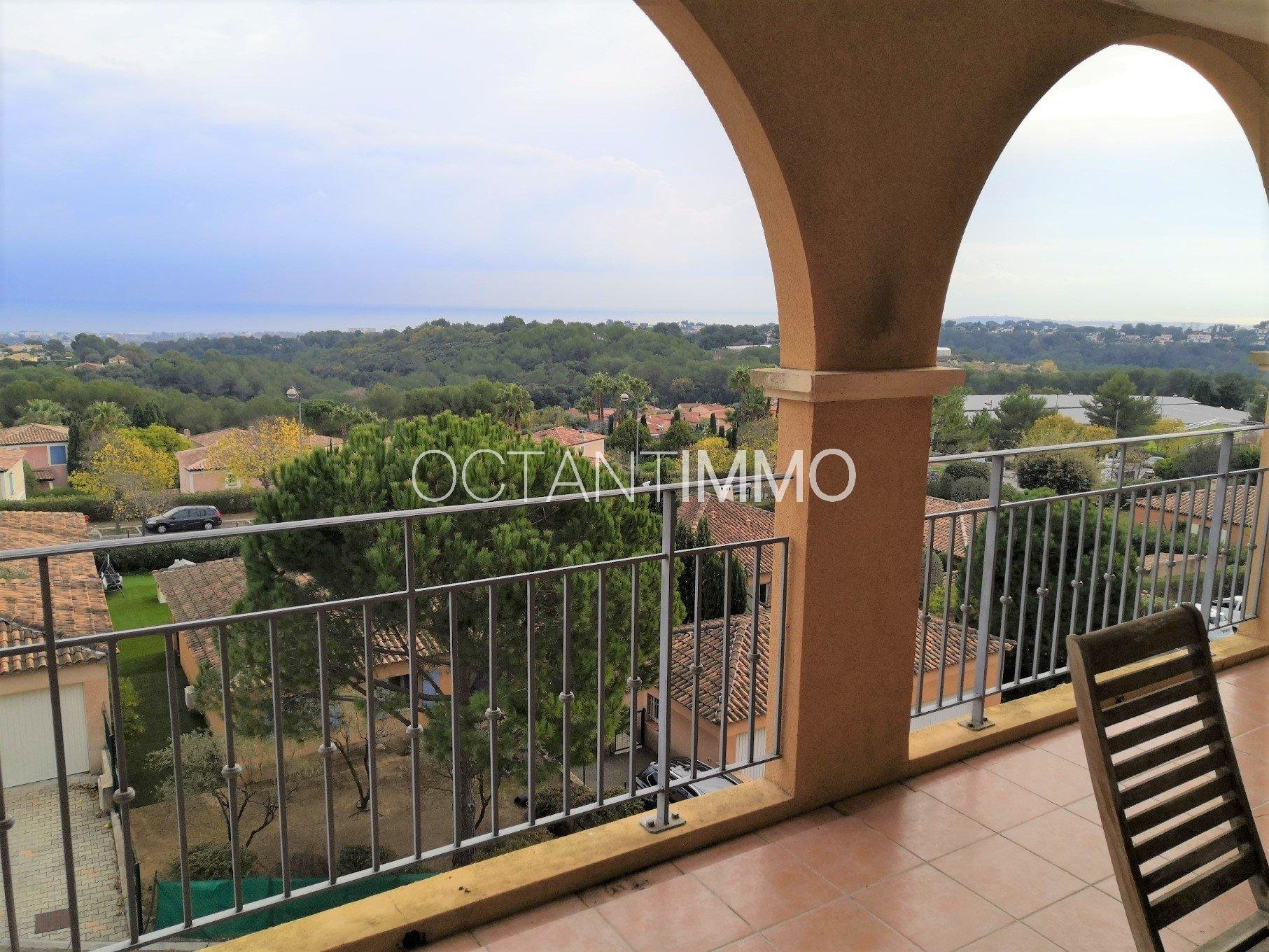 EXCLUSIVITE- Biot Saint-Philippe - appartement 3p vue mer