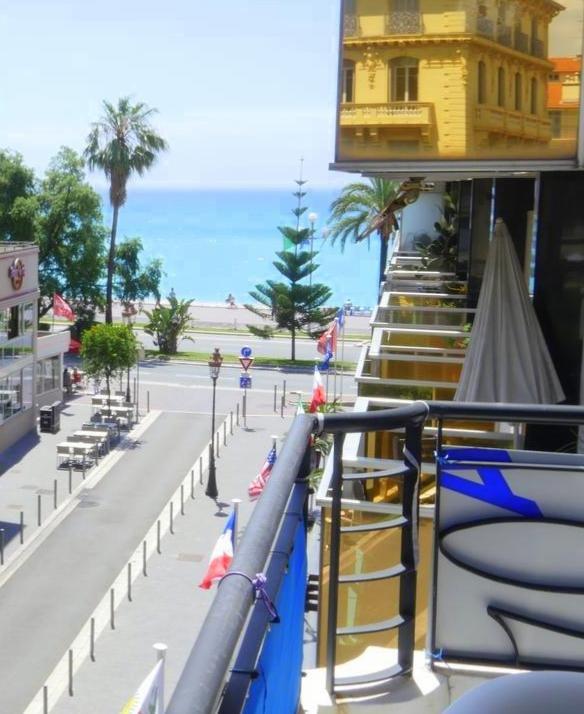 VENTE Appartement 3P Nice Carré d'Or Terrasse Vue Mer Rénové