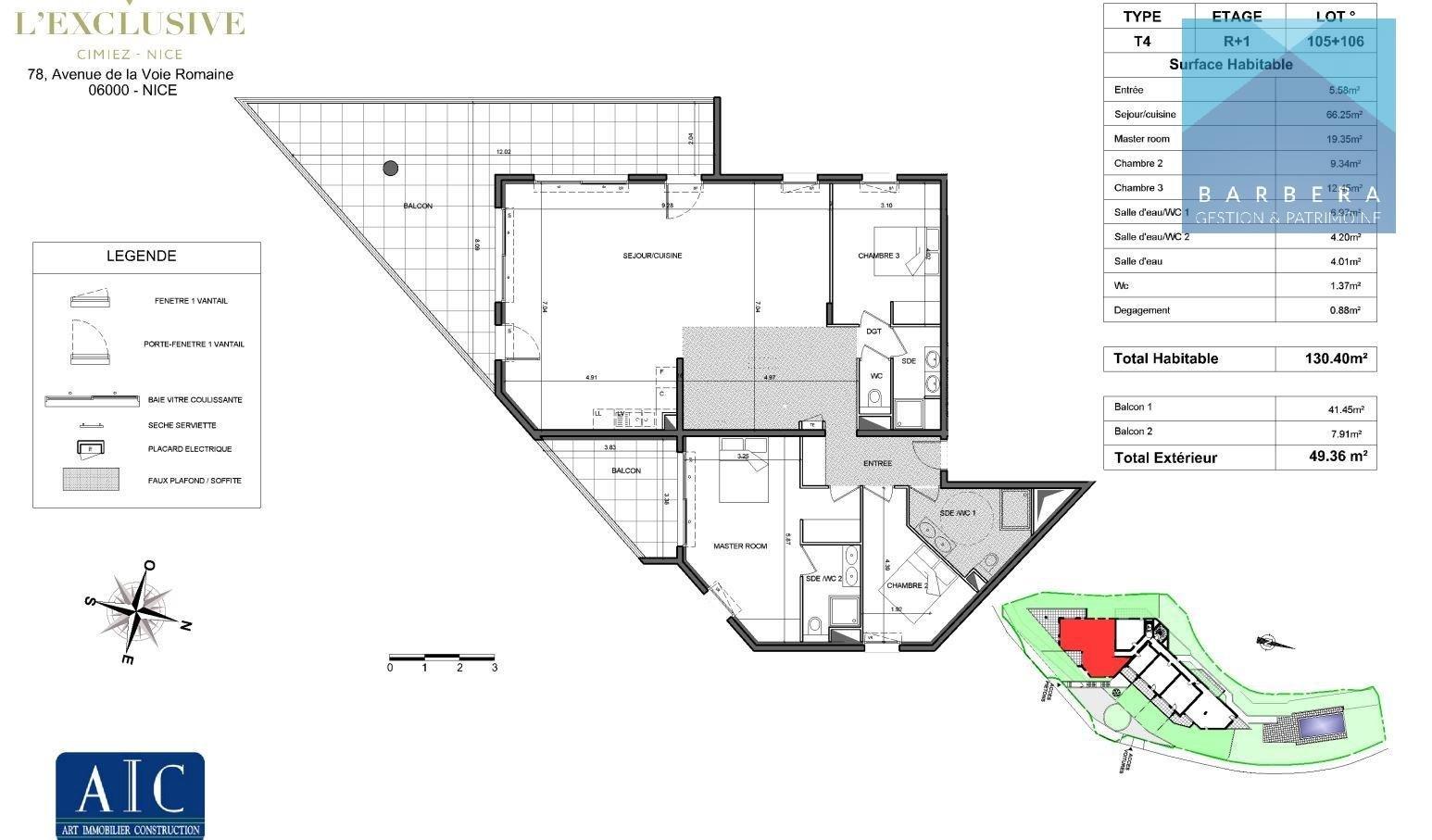 Programme appartement 65 m²