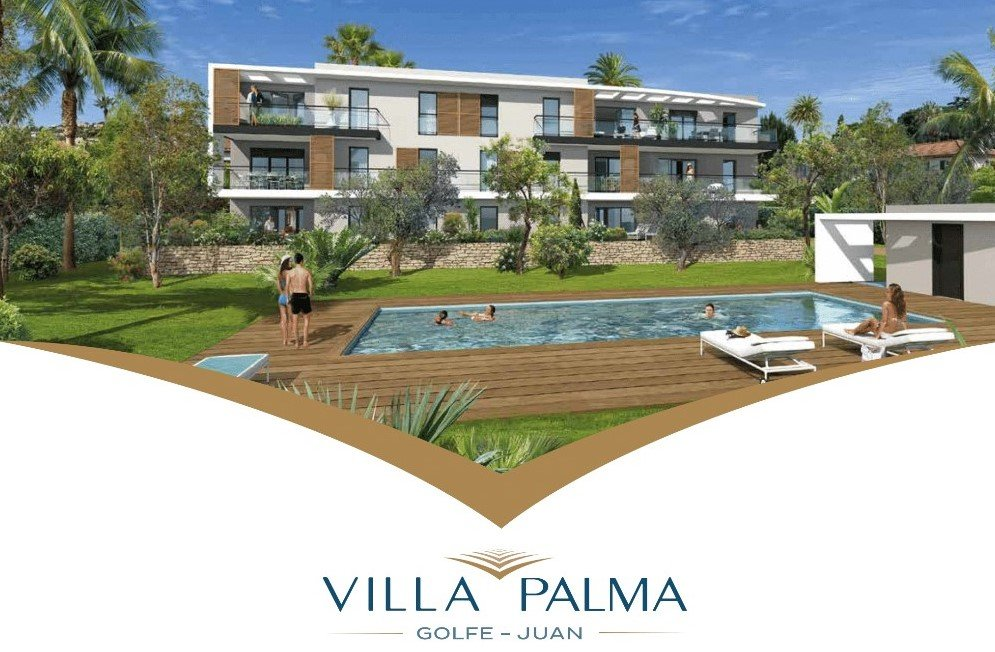 Apartment 100 m from the sea with swimming pool and parking - Golf Juan