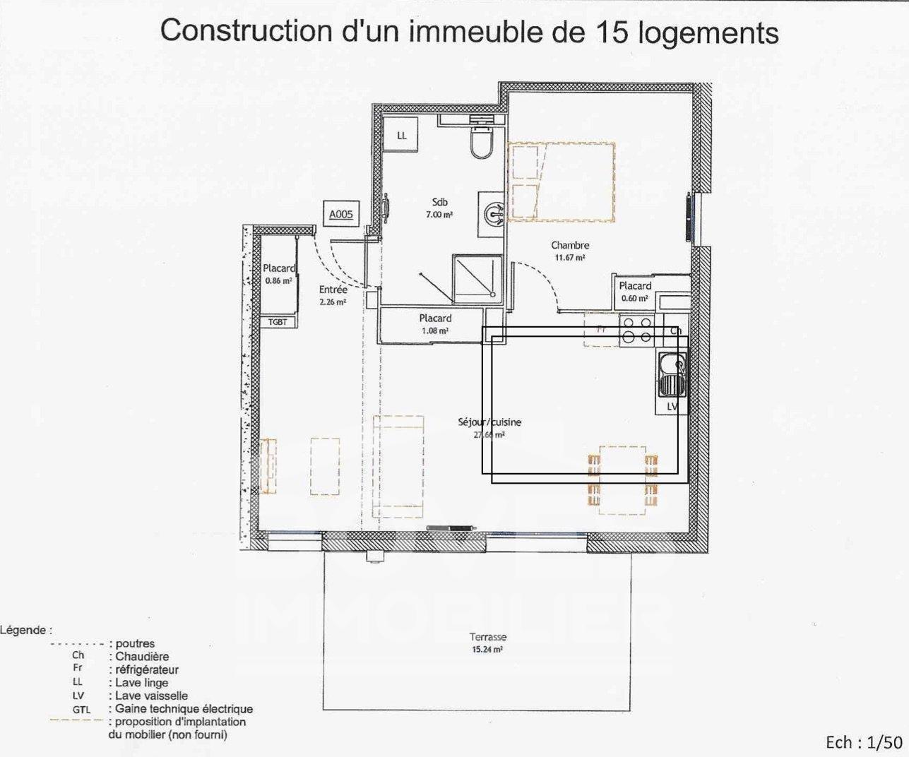 BOVES 80440  Appartement T2 A LOUER