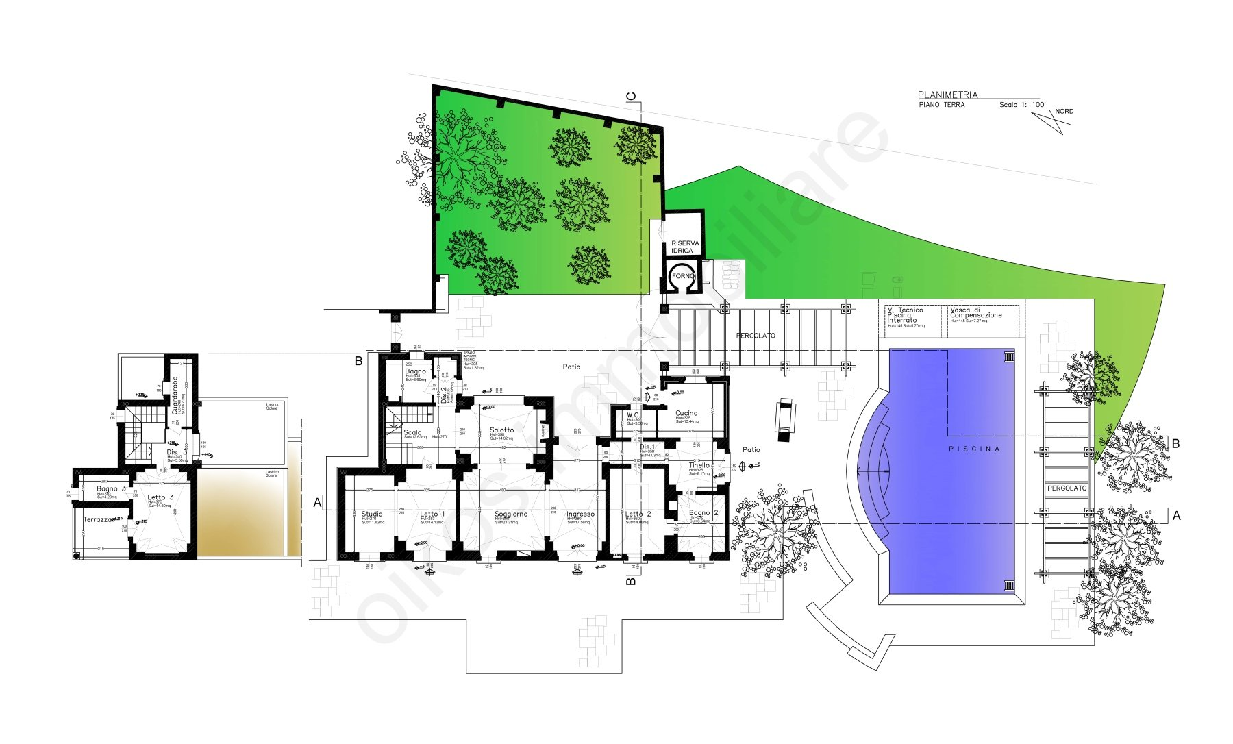 Incroyable villa de 3 chambres avec piscine, prête à emménager, annexe et jardin privé