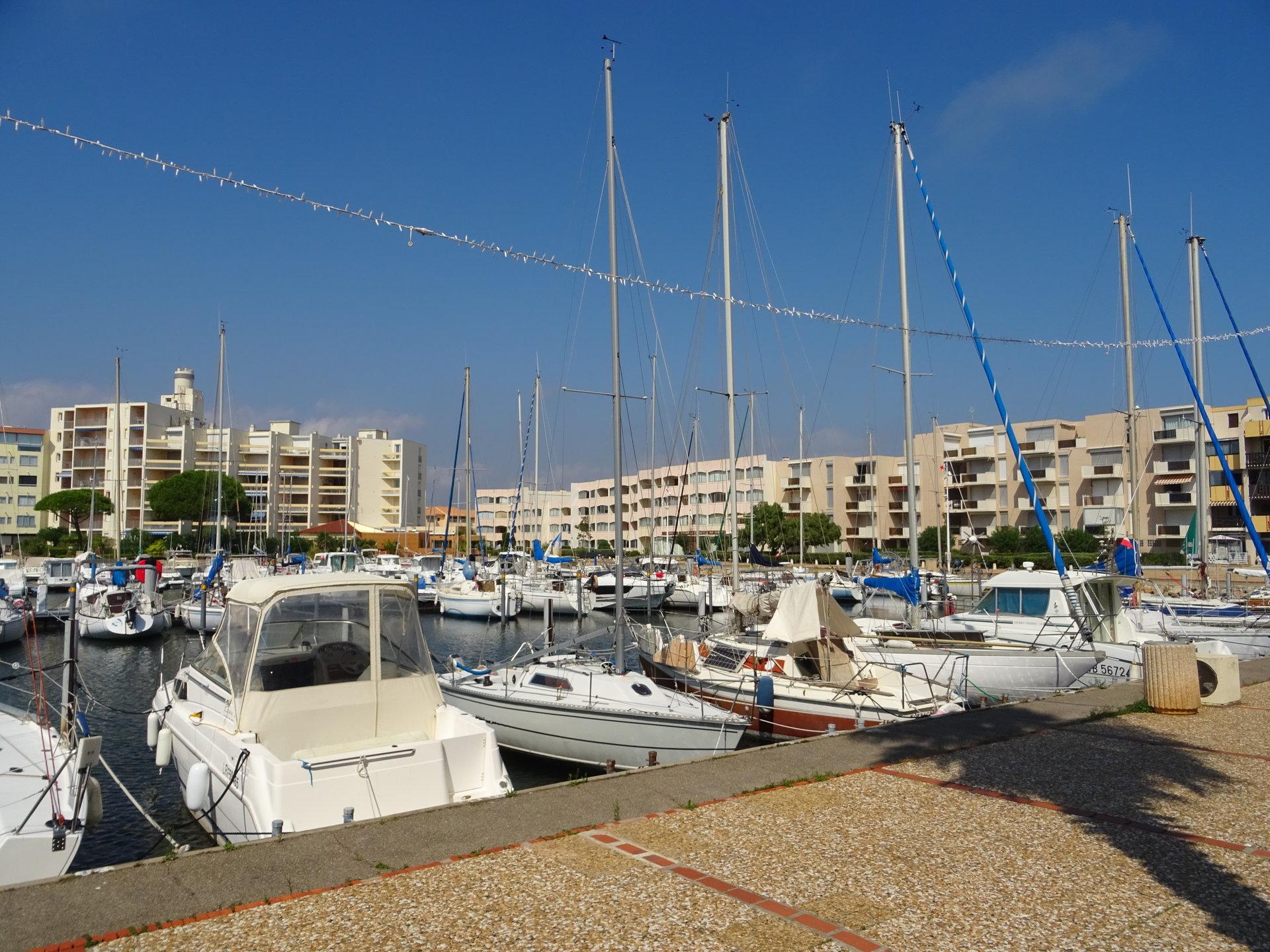 Port Leucate, Appartement de 32,50 m² avec 13,5 m² de terrasse.