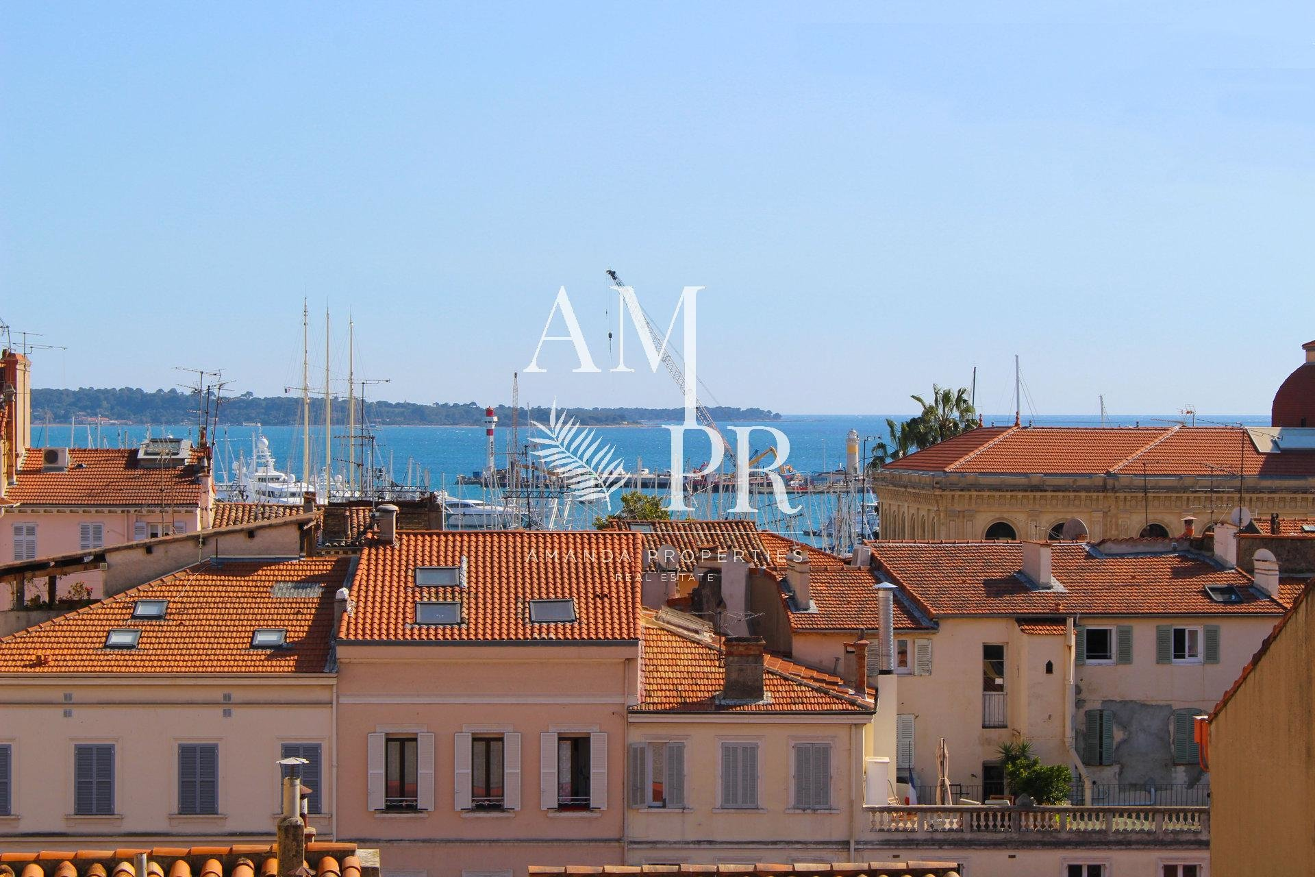 CANNES CENTER - 3 Bedrooms flat with sea view