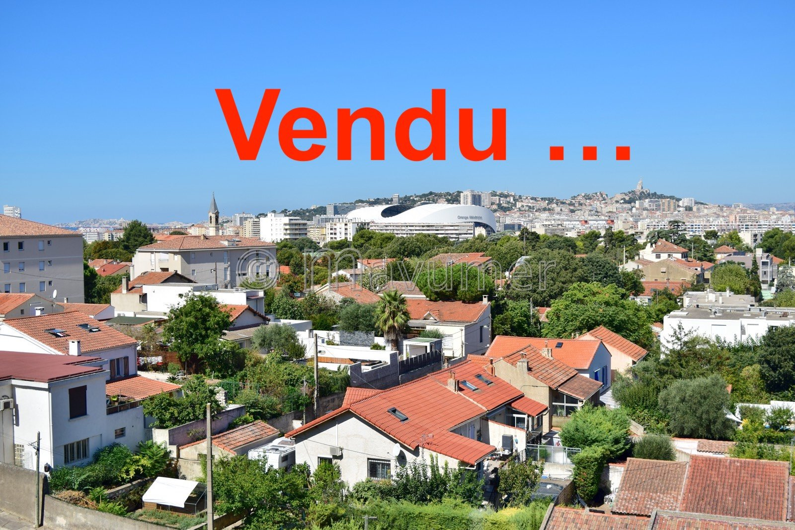 Appartement T2/3 - Vue panoramique - Marseille 13009 - Parc de la Maison Blanche