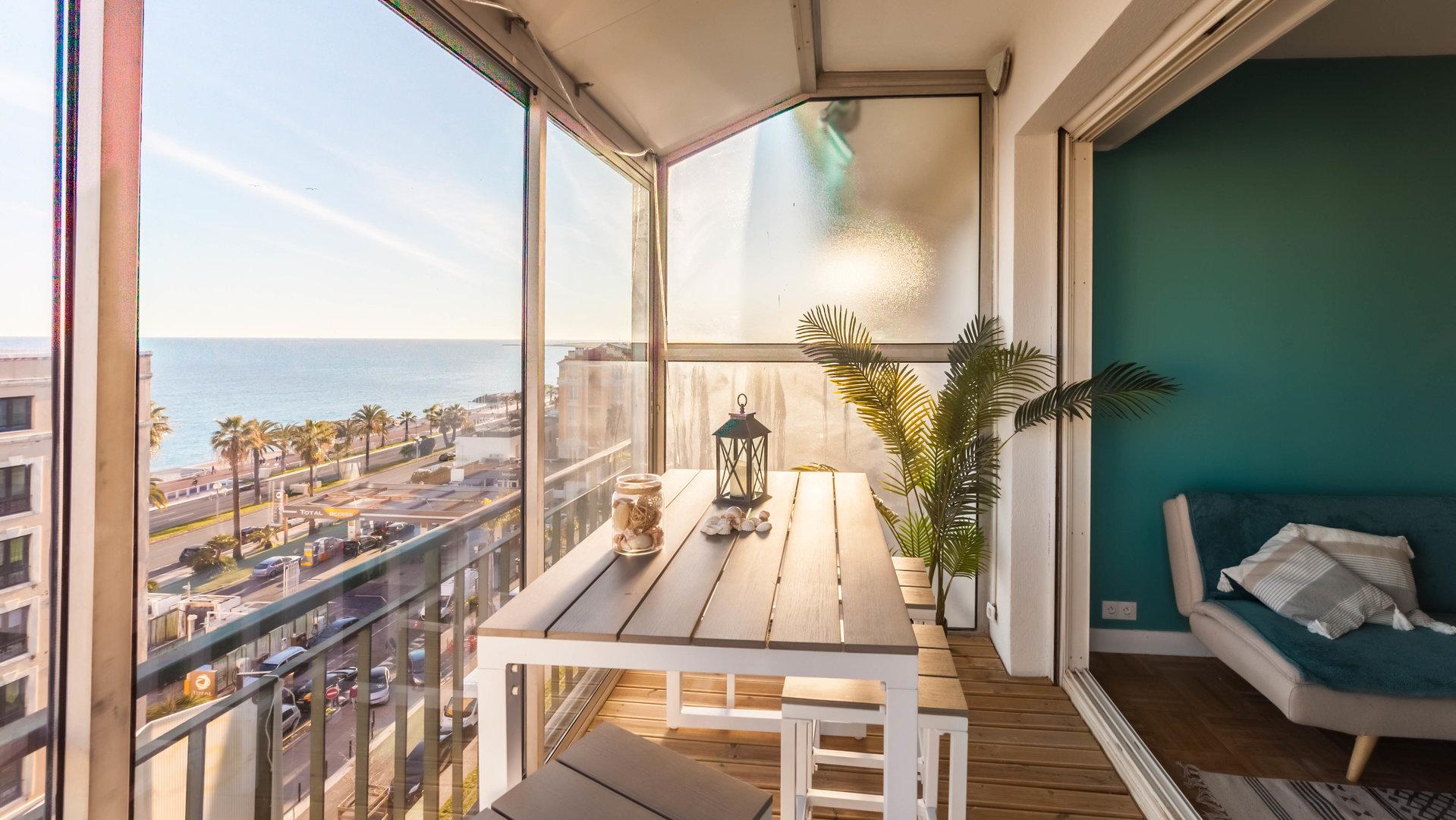 VENTE Appartement 2P Nice Promenade des Anglais Californie Dernier Étage Vue Mer