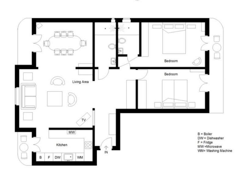 FÖRSÄLJNING Lägenhet 3 Rum 90M² Nice Fleurs Balkonger Högst Upp