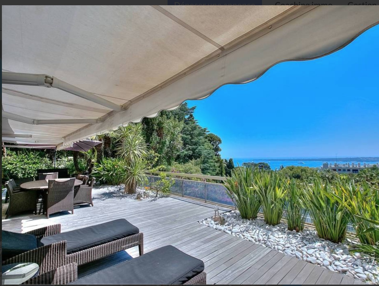 SOUS OFFRE Cannes Californie appartement 4 p 143m2 terrasse 545 m2 vue mer