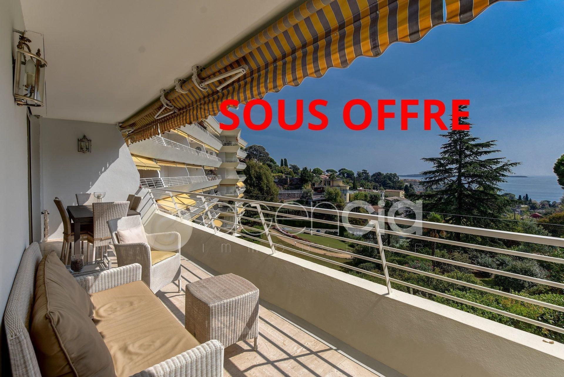 Cannes midi Appartement 3 pièces d'environ 72m2 avec vue mer et parc
