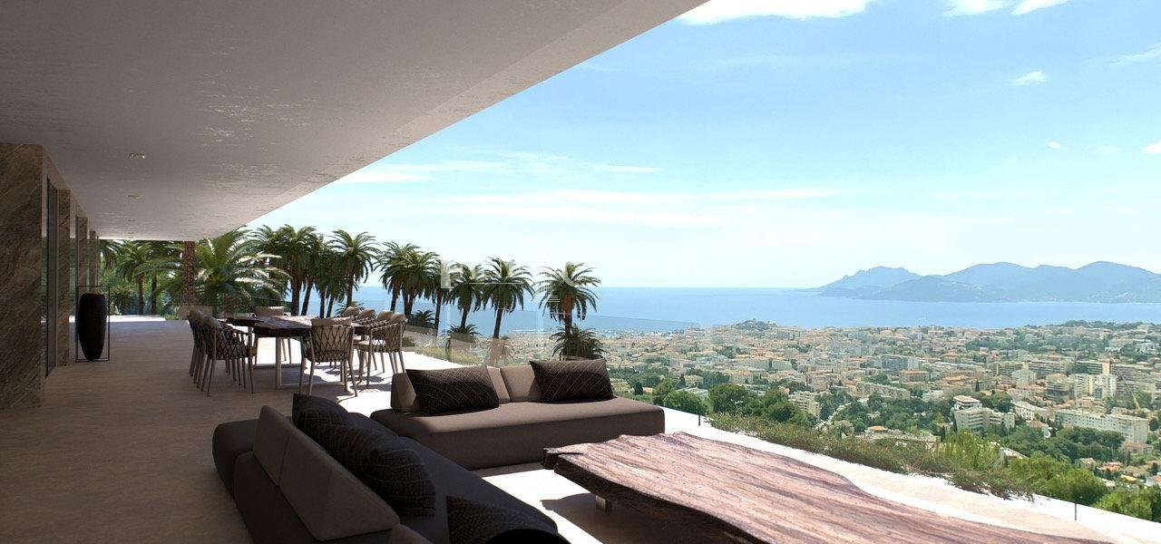 Modern Villa For Sale in Cannes with Panoramic Sea View