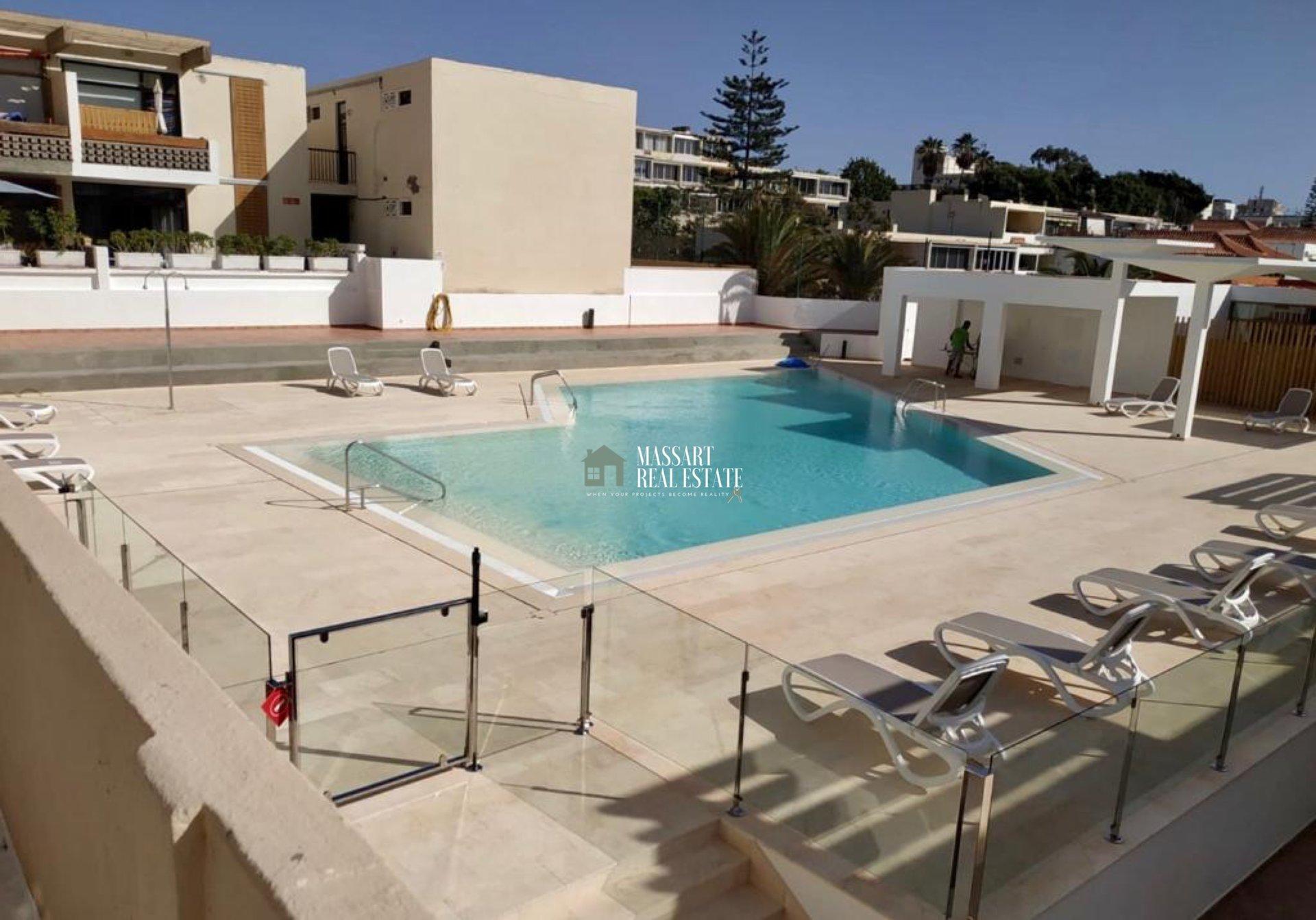 Appartamento arredato in affitto nel complesso residenziale centrale Las Piteras (Las Américas).