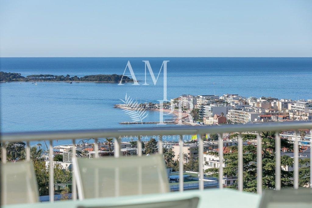 CANNES CALIFORNIE - PANORAMIC SEA VIEW MODERN LUXURY APARTMENT TOP FLOOR 4 personnes