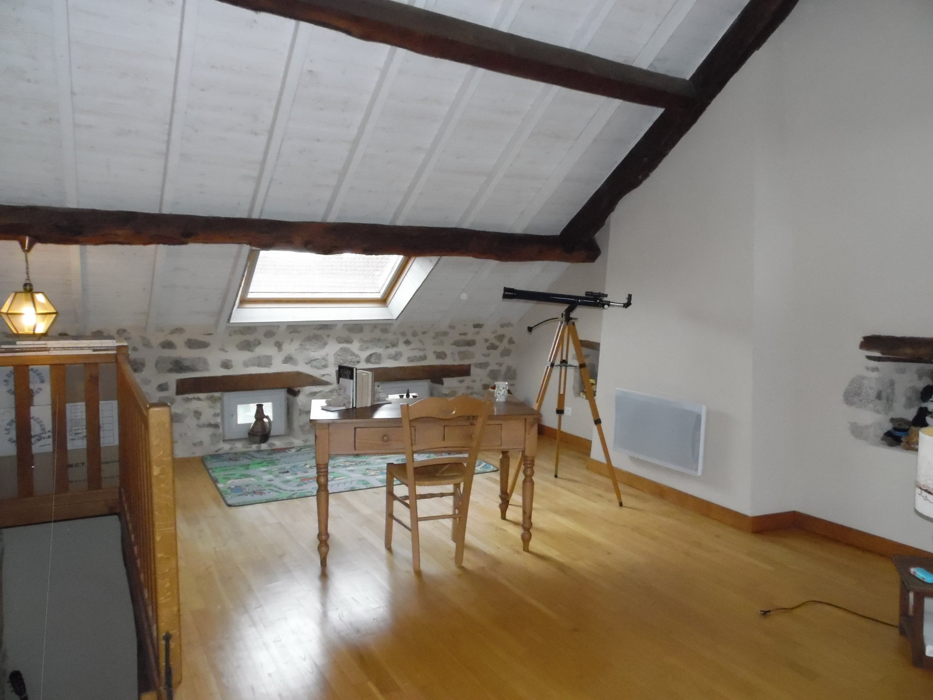 For sale in the Creuse, House, barn, woodland and garden.