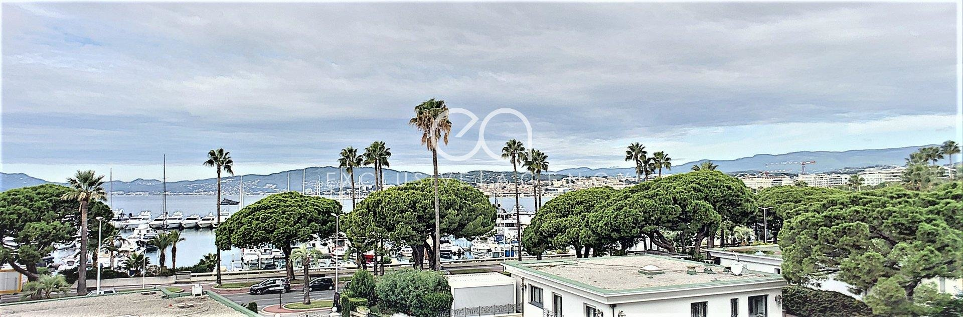 Cannes Croisette - Crossing apartment of 107sqm - Panoramic sea view.