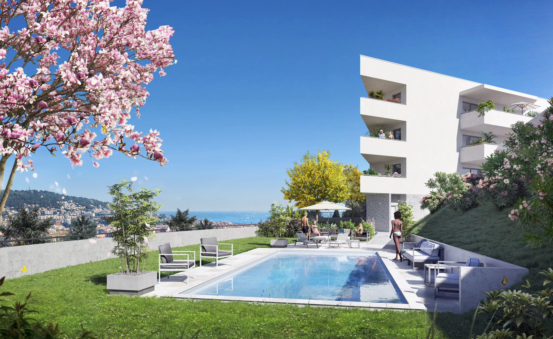 NICE - French Riviera - luxury 2 bed Apartment with terrace and garden