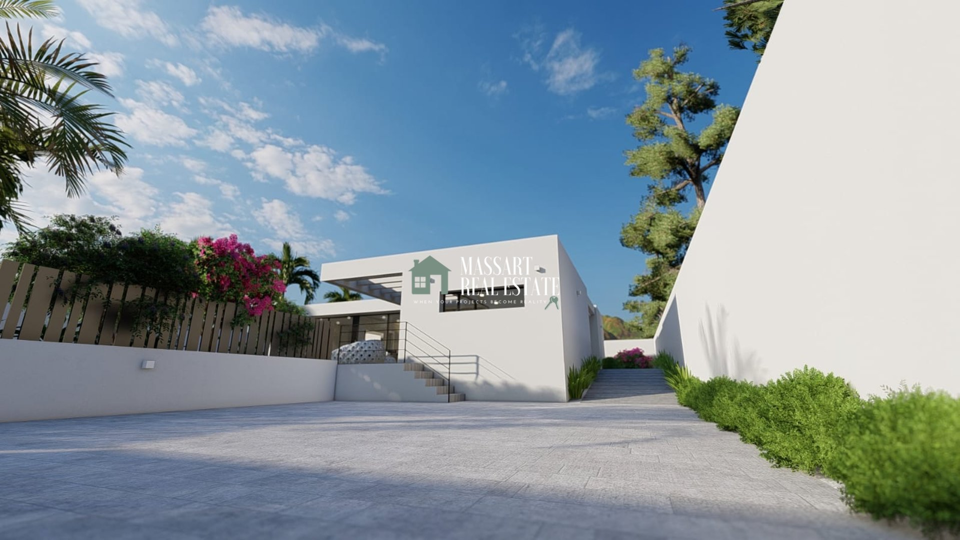 Een moderne en luxe villa aan met een exclusief design - Granadilla de Abona.