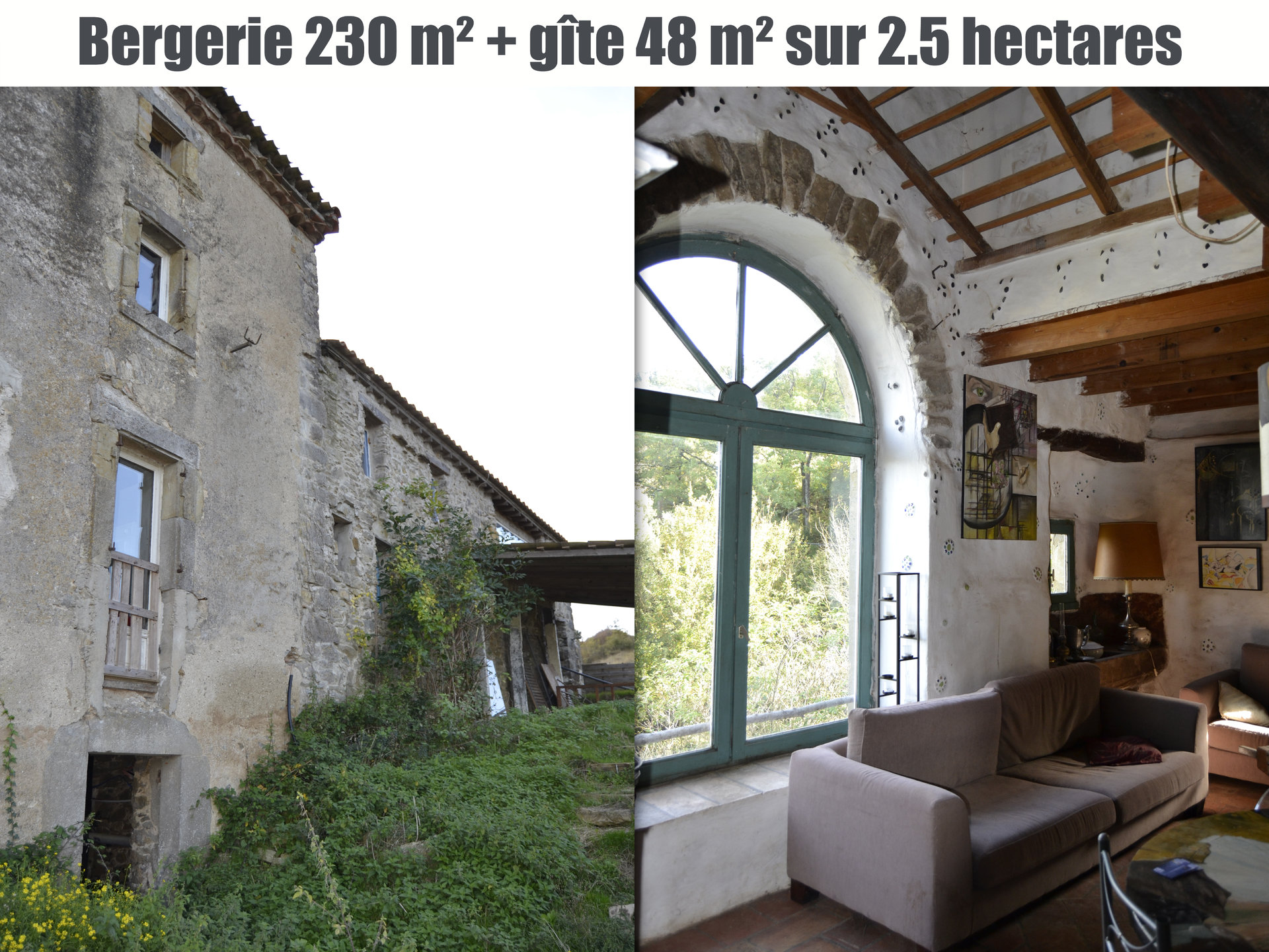 Ancienne bergerie sur 2.5 hectares