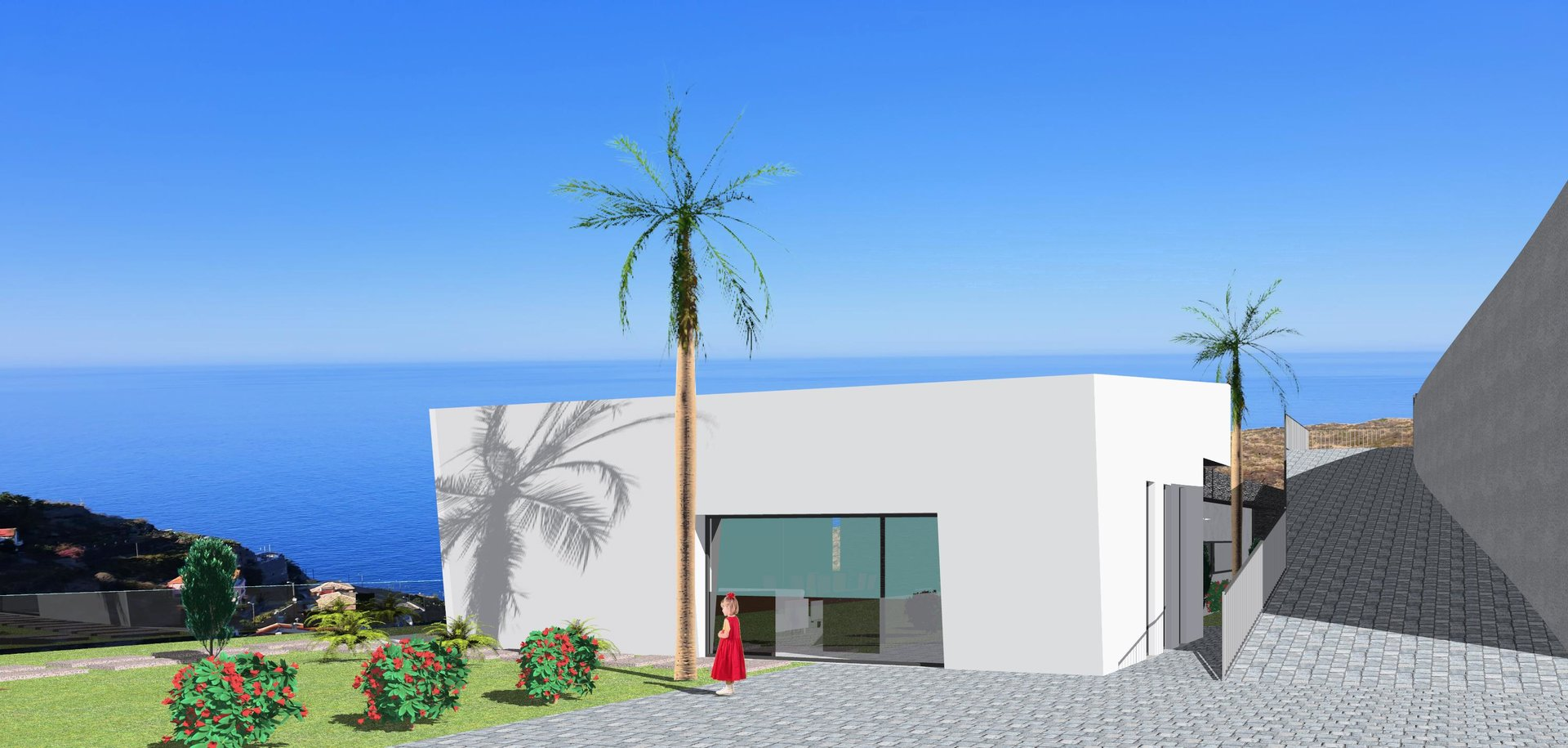 Magnificent contemporary villa with swimming pool and panoramic ocean views.