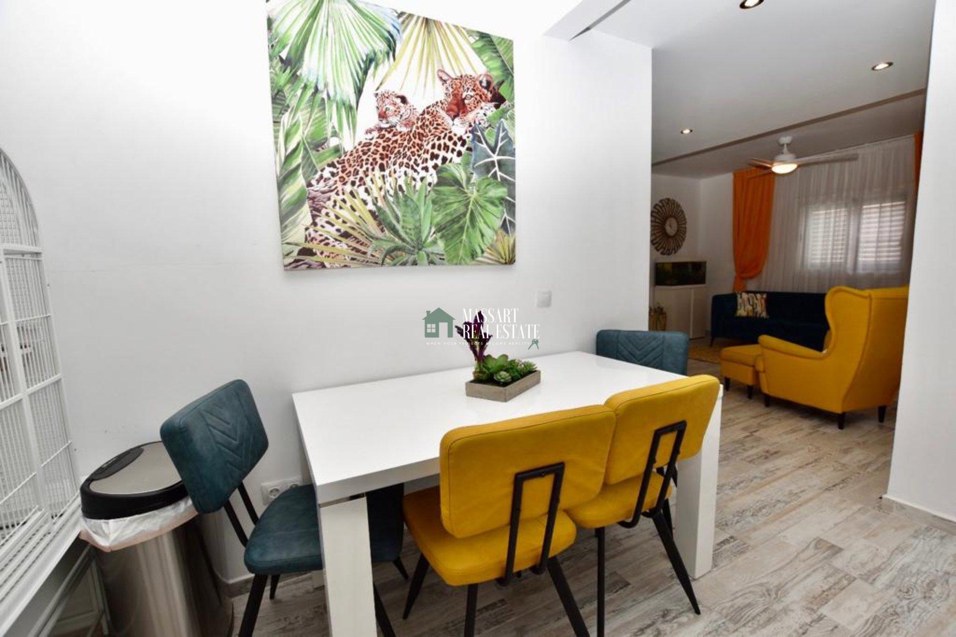 Gemeubileerd appartement van 73 m2 gelegen op de begane grond in een centrale wijk van Fañabé pueblo (Adeje).