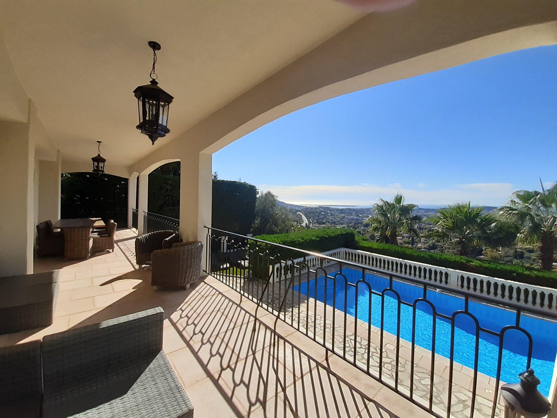 Stunning south facing villa with open sea views - Mougins