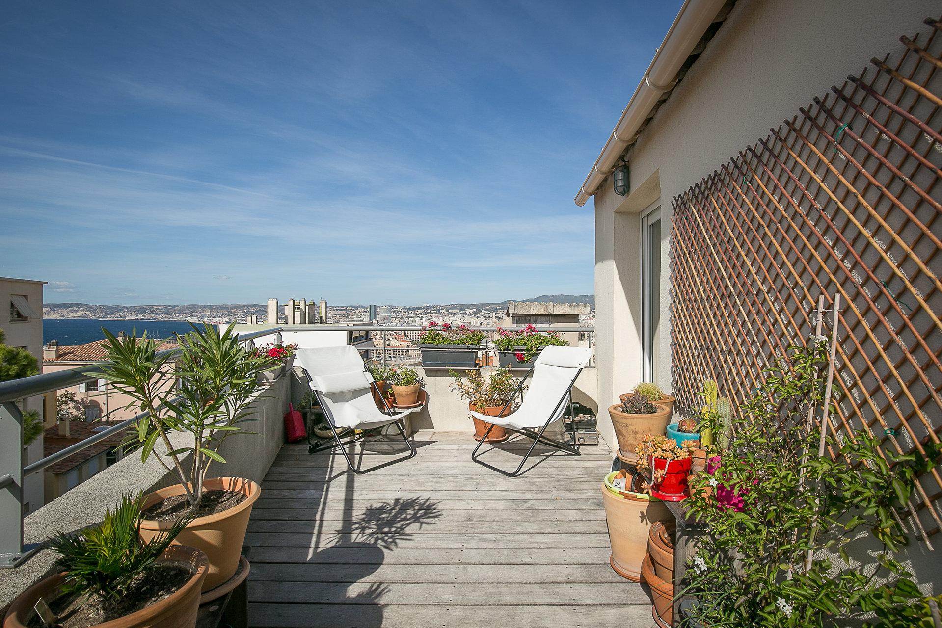 Marseille 7ème - Duplex 90m² avec terrasse et vue mer