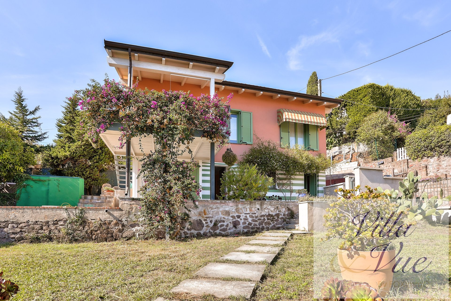 French Riviera Golfe-Juan overview Hill sea House