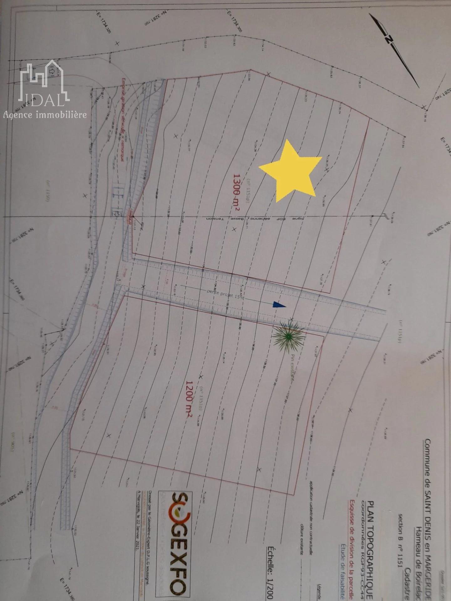 Boirelac(St Denis en Margeride)-Terrain 1300 m² constructible