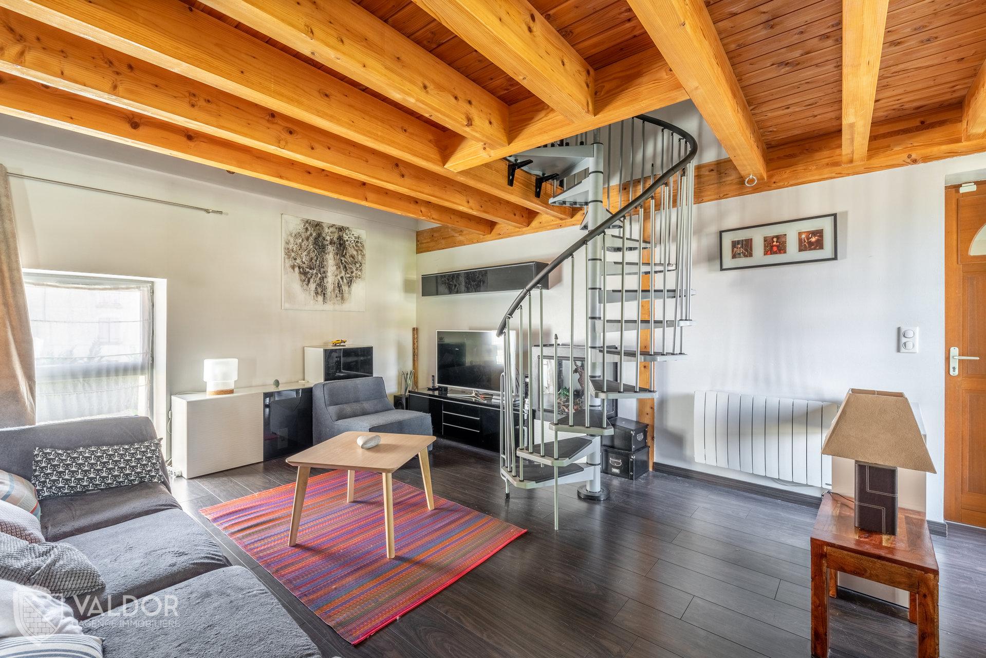 Coeur de ville pour cet appartement duplex de 120 m²