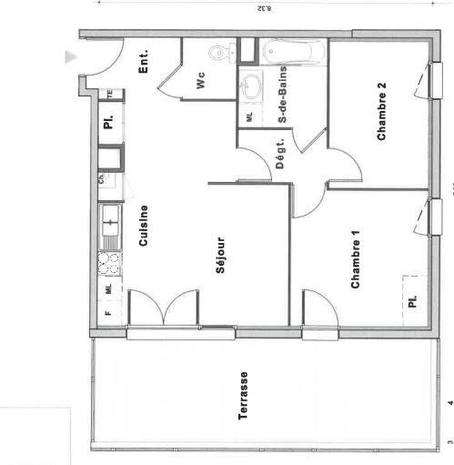 Rés. BEL AMI - T3 avec terrasse de 22 m² - limite ROUEN