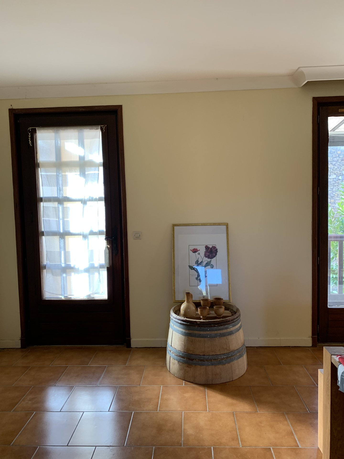 Maison vigneronne sur terrain arboré