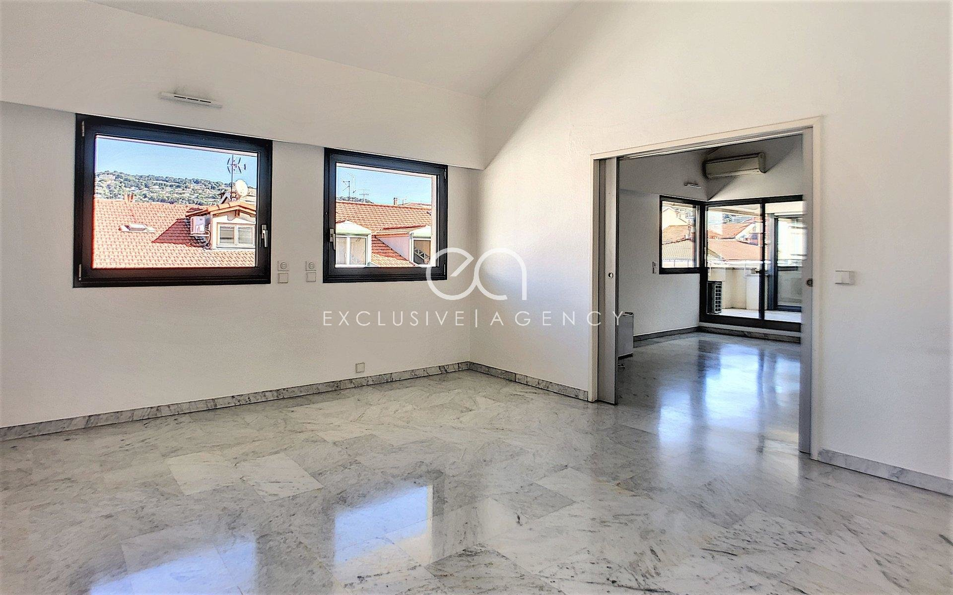 FOR RENT CANNES CENTER ANTIBES STREET 4 rooms apartment 110sqm with 3 terraces