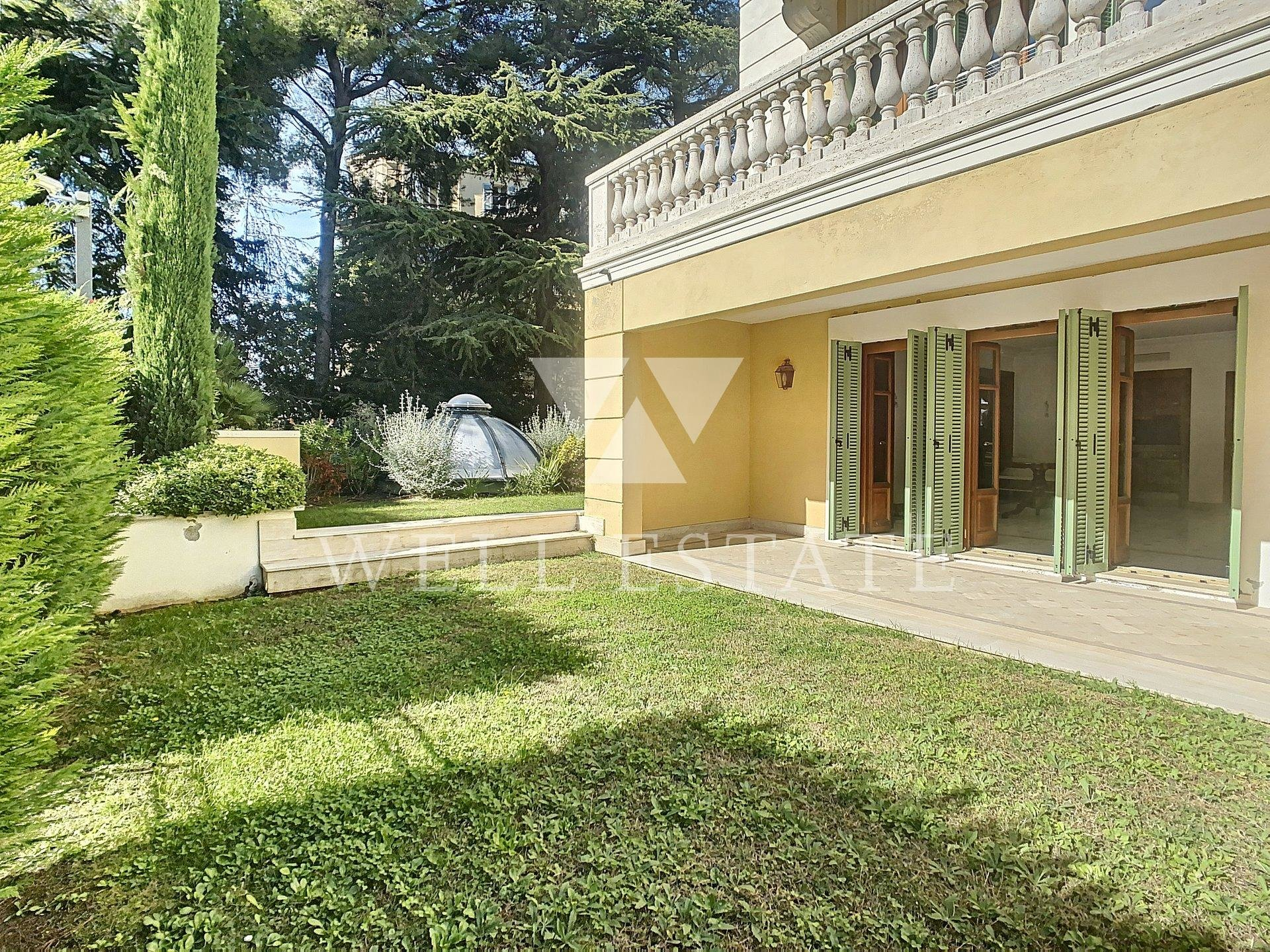 CANNES OXFORD 1 BEDROOM APARTMENT 58M2 WITH TERRACE AND PRIVATE GARDEN
