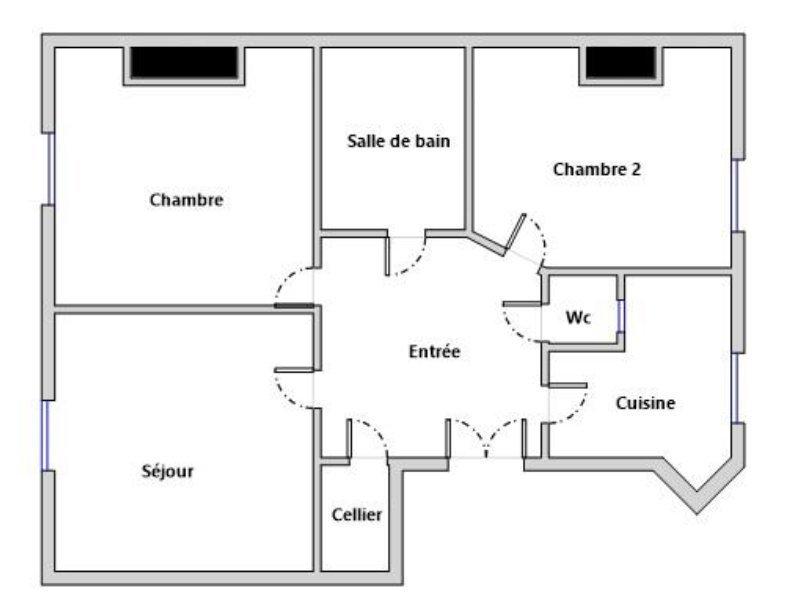 A VENDRE - PARIS - 75017 - BATIGNOLLES - 3 PIÈCES