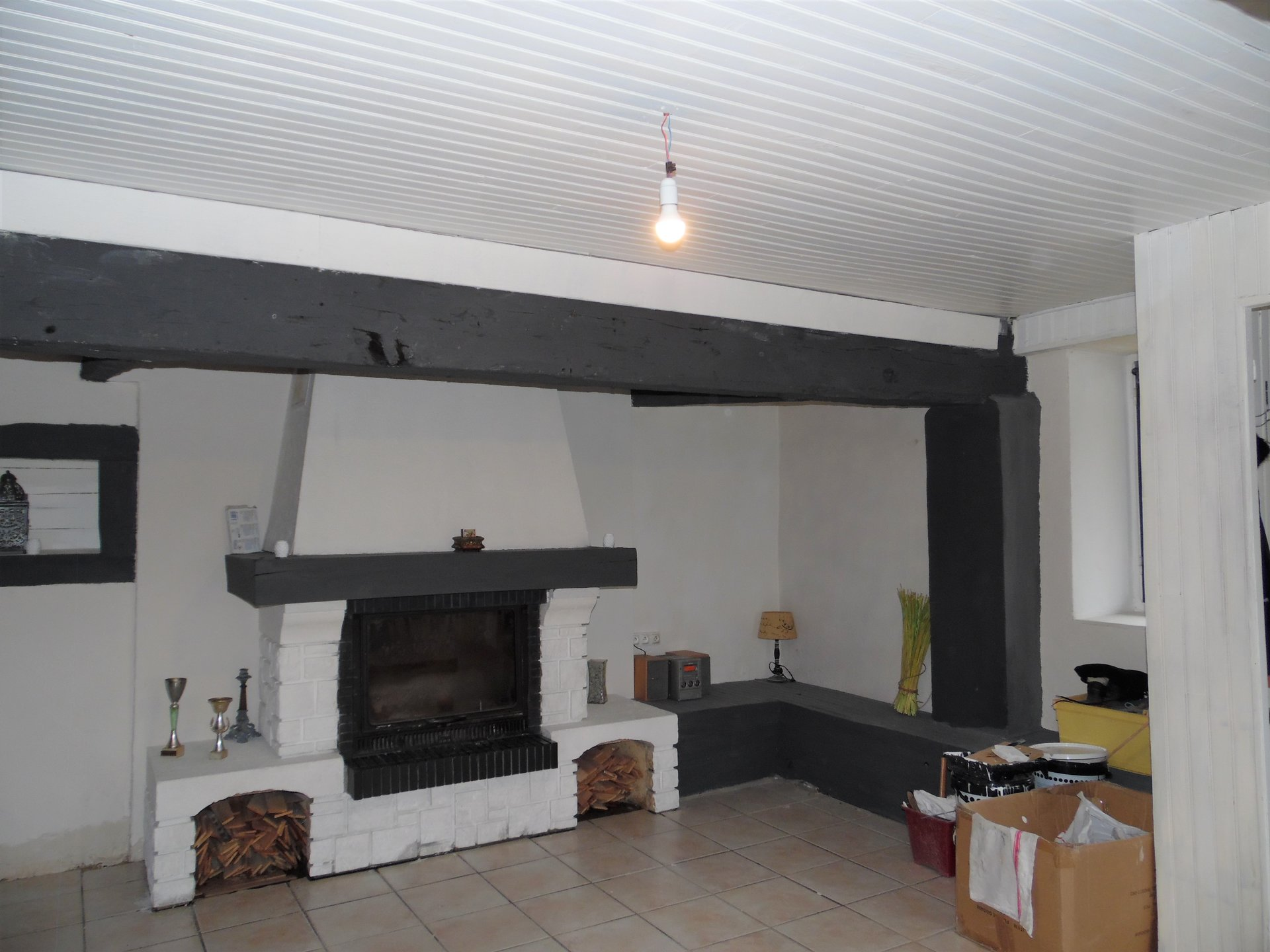 For sale in  Allier, renovated village house with terrace .