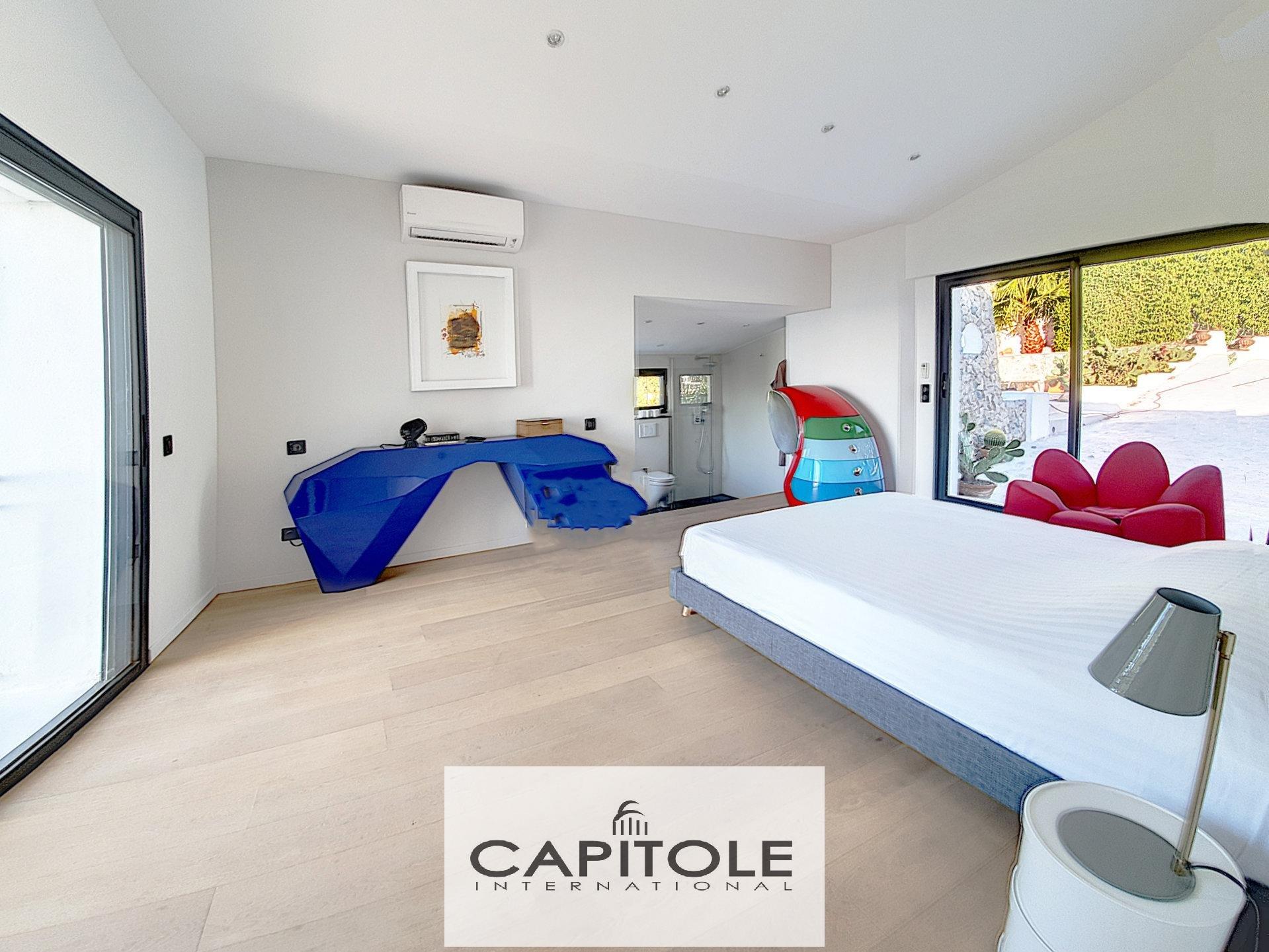 A vendre, Cannes Californie, maison avec piscine, vue panoramique mer, terrain 1600 m²