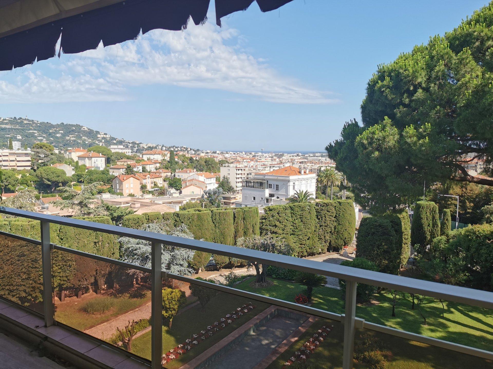 Dernier étage vue mer à Cannes
