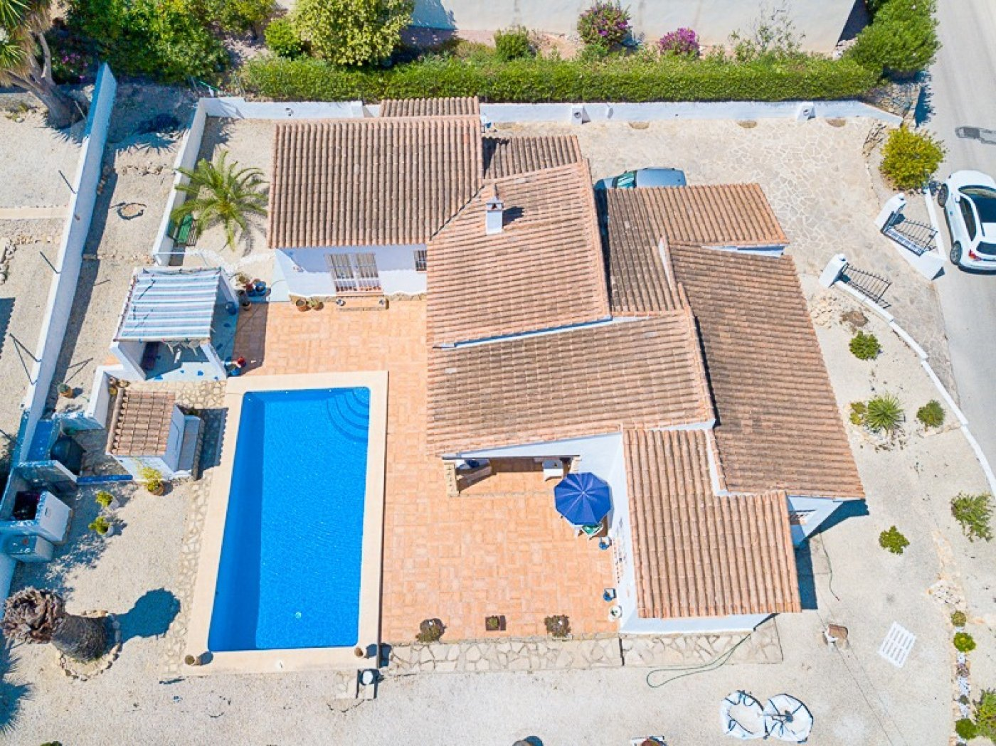 Villa de un nivel con vistas al mar en Moraira