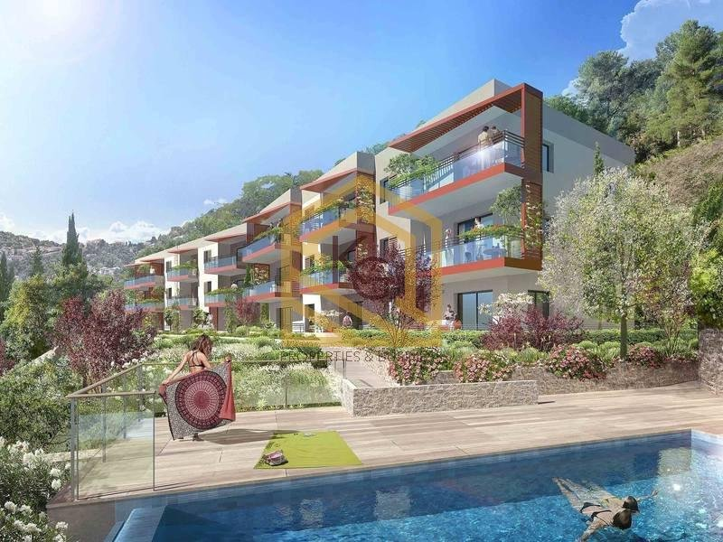 Èze, a vendre 3 pièces dans résidence neuve avec piscine chauffée.