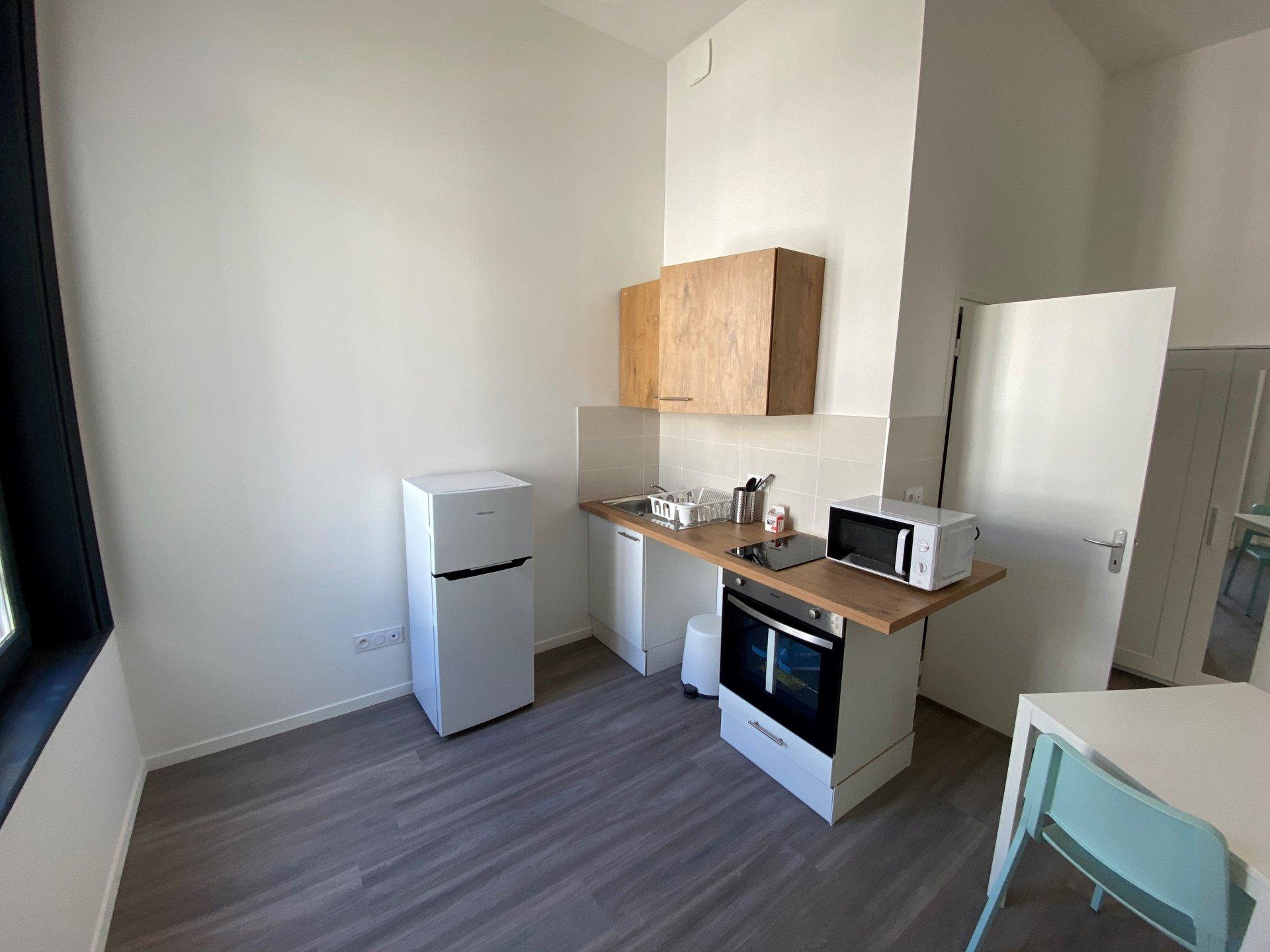 SAINT-ETIENNE CENTRE - Appartement T1 meublé refait à neuf avec mezzanine