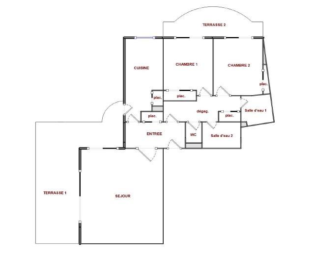 BIOT - Lys og hyggelig 3-roms med 37m2 terrasseareal i nyere residens med pool, garasje, heis.