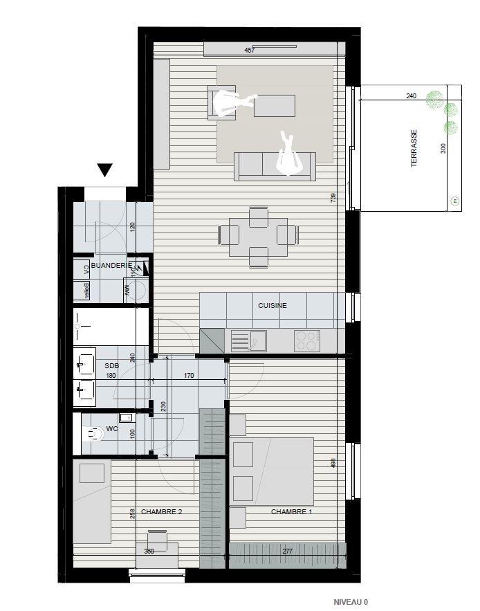 Appartement 2 chambres de 80 m²
