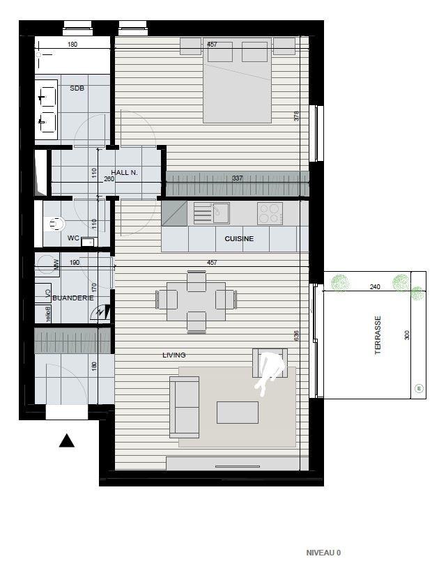 Appartement 1 chambre de 69 m²